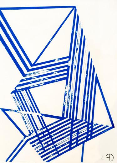 Arozarena Daphney Bally Serigrafía 1 2014 serigrafía sonre papel 42 x 30 1 de 50