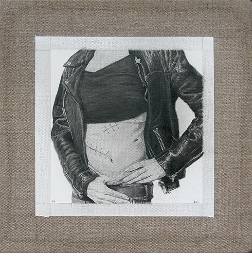 Galería Oscar Román Marco-Arce,-Cicatriz,-2011,-¢leo-sobre-tela,-20-x-20-cm