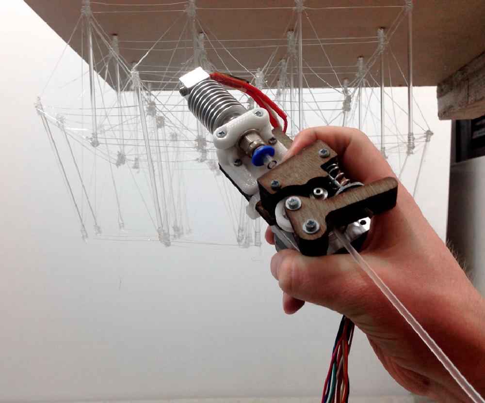 Kengo Kuma, Pluma que imprime en 3D (2015-16)