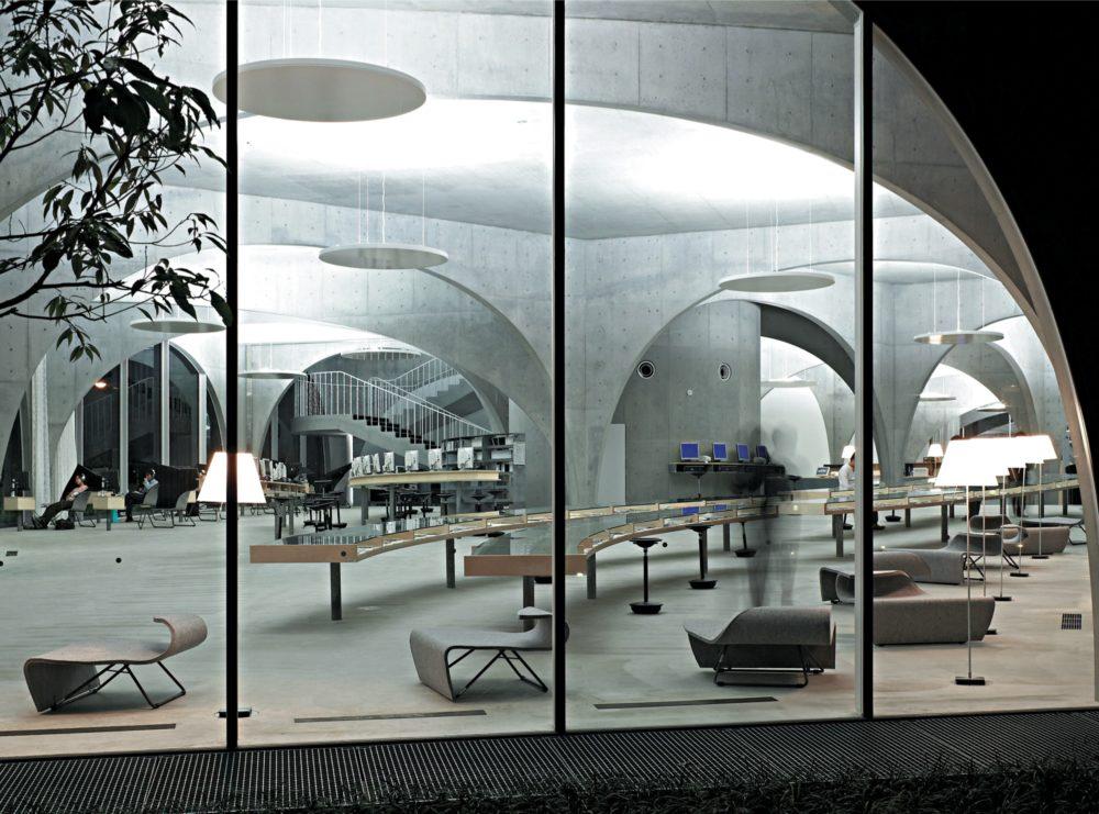 Toyoo Itō, Biblioteca de la Universidad de Arte Tama (Tokio, 2007)