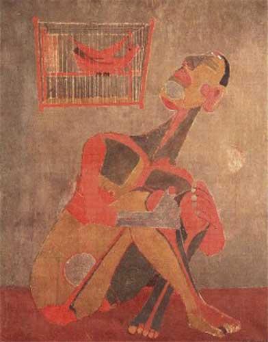 Rufini Tamayo, El pájaro cantor (1943)