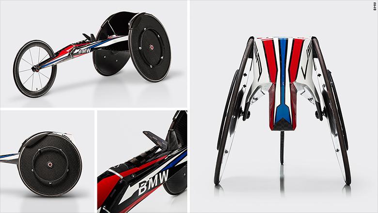 Silla de ruedas de carreras, para el equipo estadounidense, por BMW. imagen tomada de cnn.com