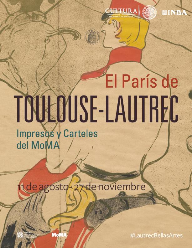 El París de Toulouse-Lautrec, en el Museo del Palacio de Bellas Artes. Tomada del Facebook del Museo