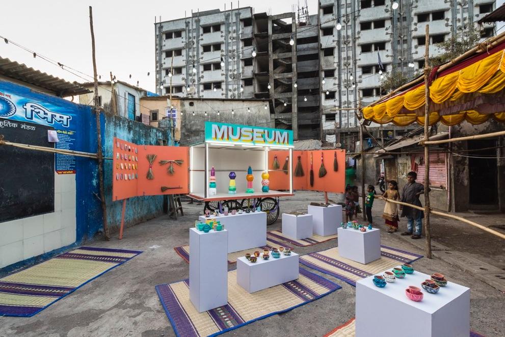 Museo de Diseño Dharavi (2016-). Museo itinerante que promueve la creatividad en zonas marginales