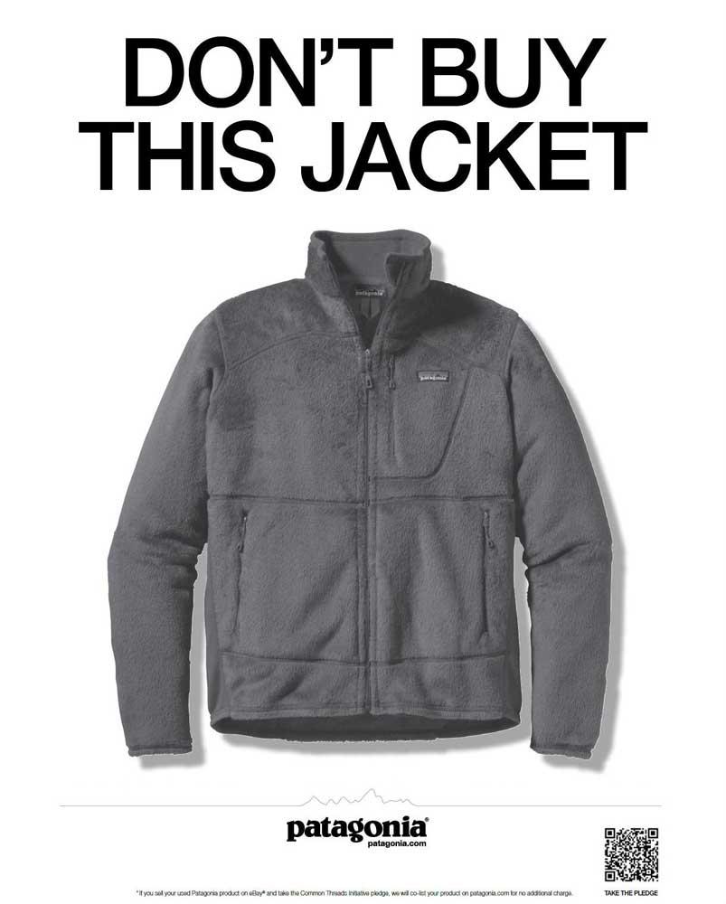 """Patagonia, """"No compre esta chaqueta"""" (2011)"""