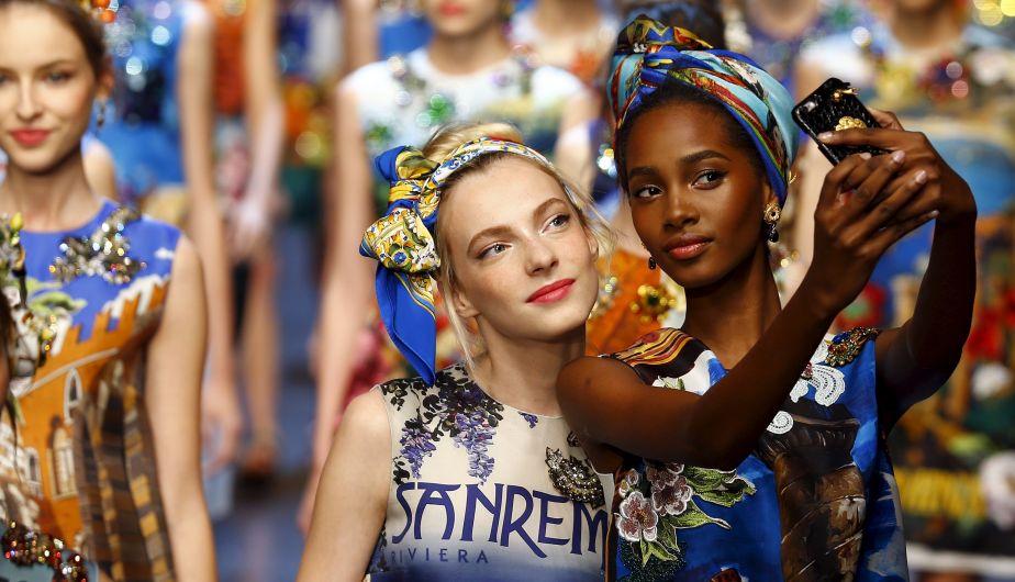 Dolce & Gabbana, Colección Primavera - Verano (2016), Milán, 2015. Fotografía tomada del sitio Perú21.