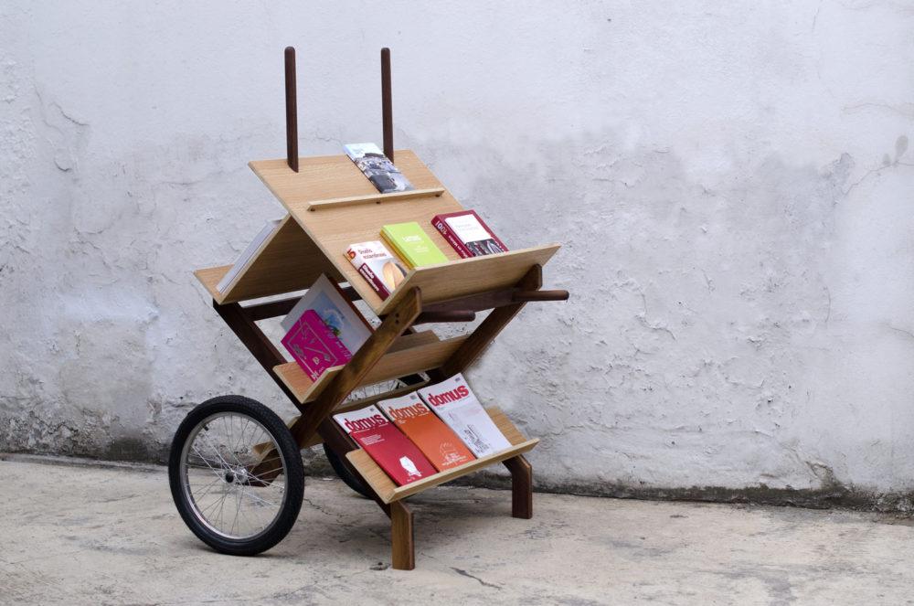 Tuux, mobiliario de exhibición (2014). Fotografía tomada del sitio oficial del estudio