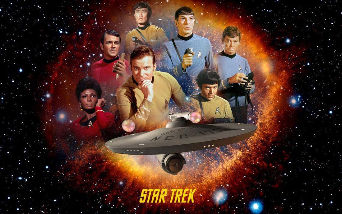Gene Roddenberry, Star Trek: La serie original (1966-69). Imagen tomada de universodecienciaficcion.blogspot.mx
