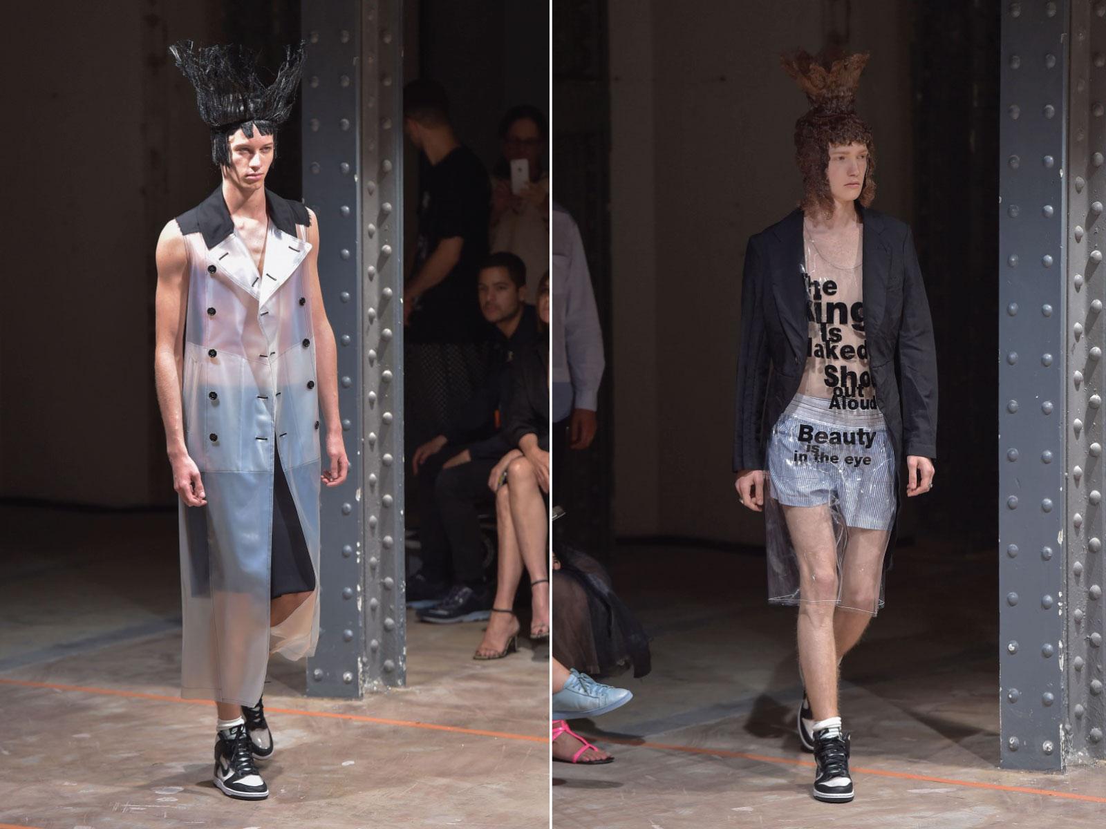 Comme des Garçons Homme – SS17 (2016). Paris Fashion Week. Imagen tomada de essential-homme.com