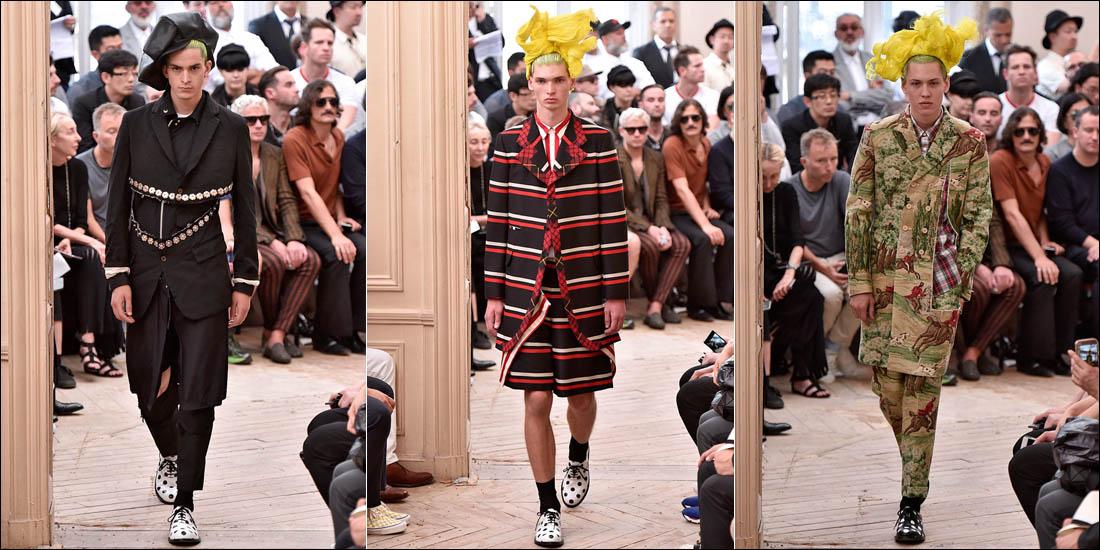 Rei Kawakubo, Comme des Garçons Homme Plus SS16 (2015). Paris Fashion Week. Imagen tomada de essential-homme.com
