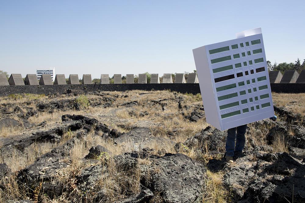 Protesta contra el Edificio H en el Espacio Escultórico, Ciudad Universitaria. © Cuauhtémoc Islas