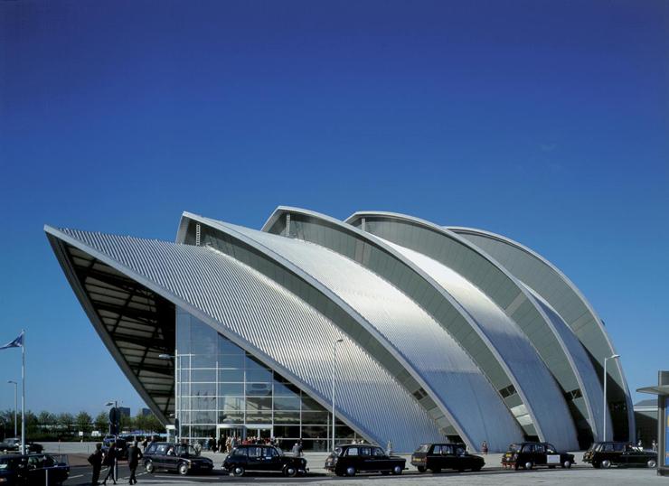 Auditorio Clyde de Glasgow. Imagen tomada de fosterandpartners.com