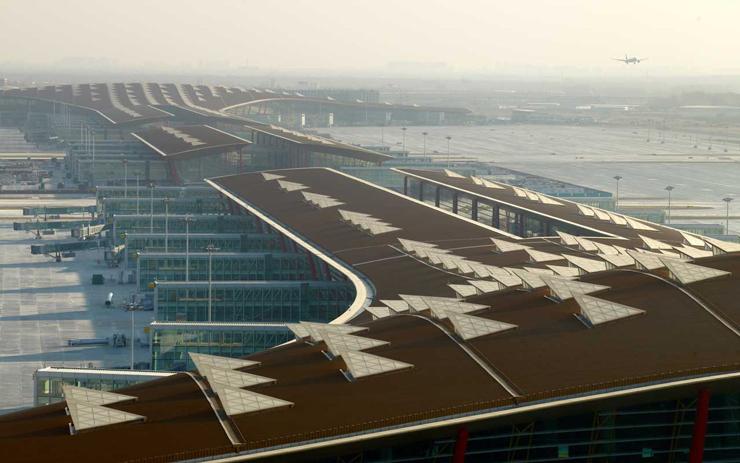 Aeropuerto Internacional de Beijing. Imagen tomada de fosterandpartners.com