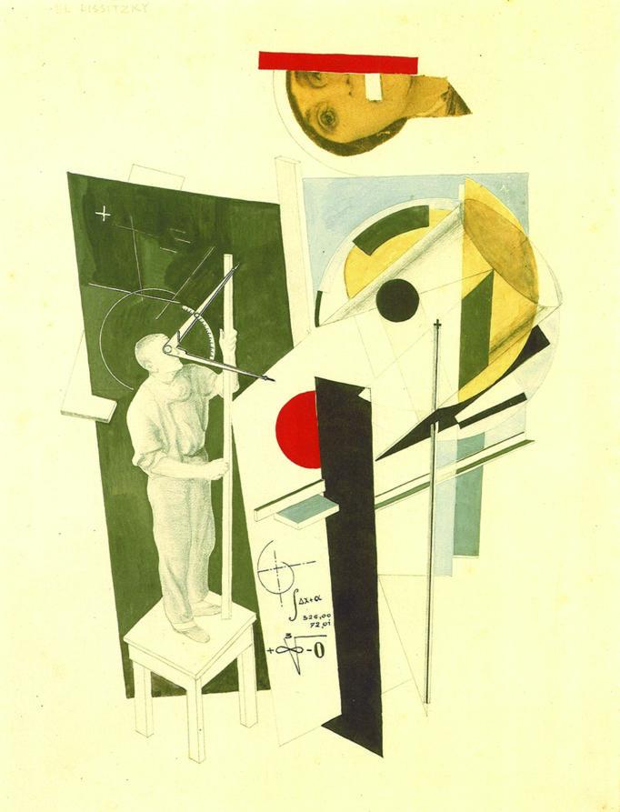 Composición geométrica con recortes. Arte soviético.