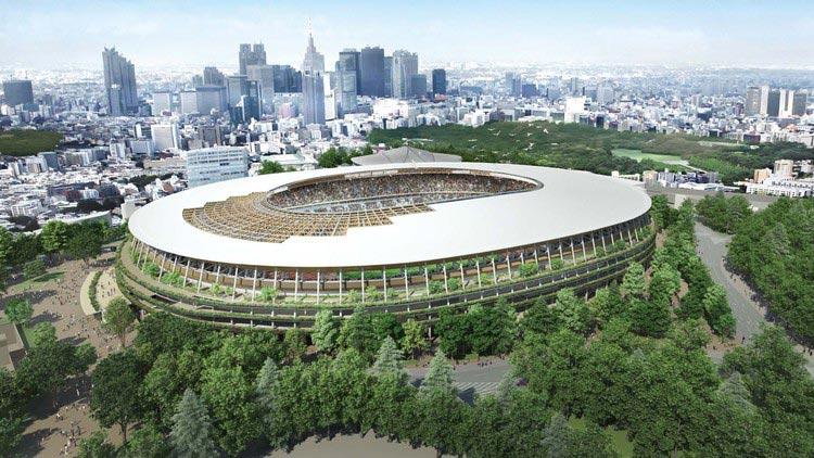 Estadio Olímpico en Japón. Edificios más esperados de 2019.